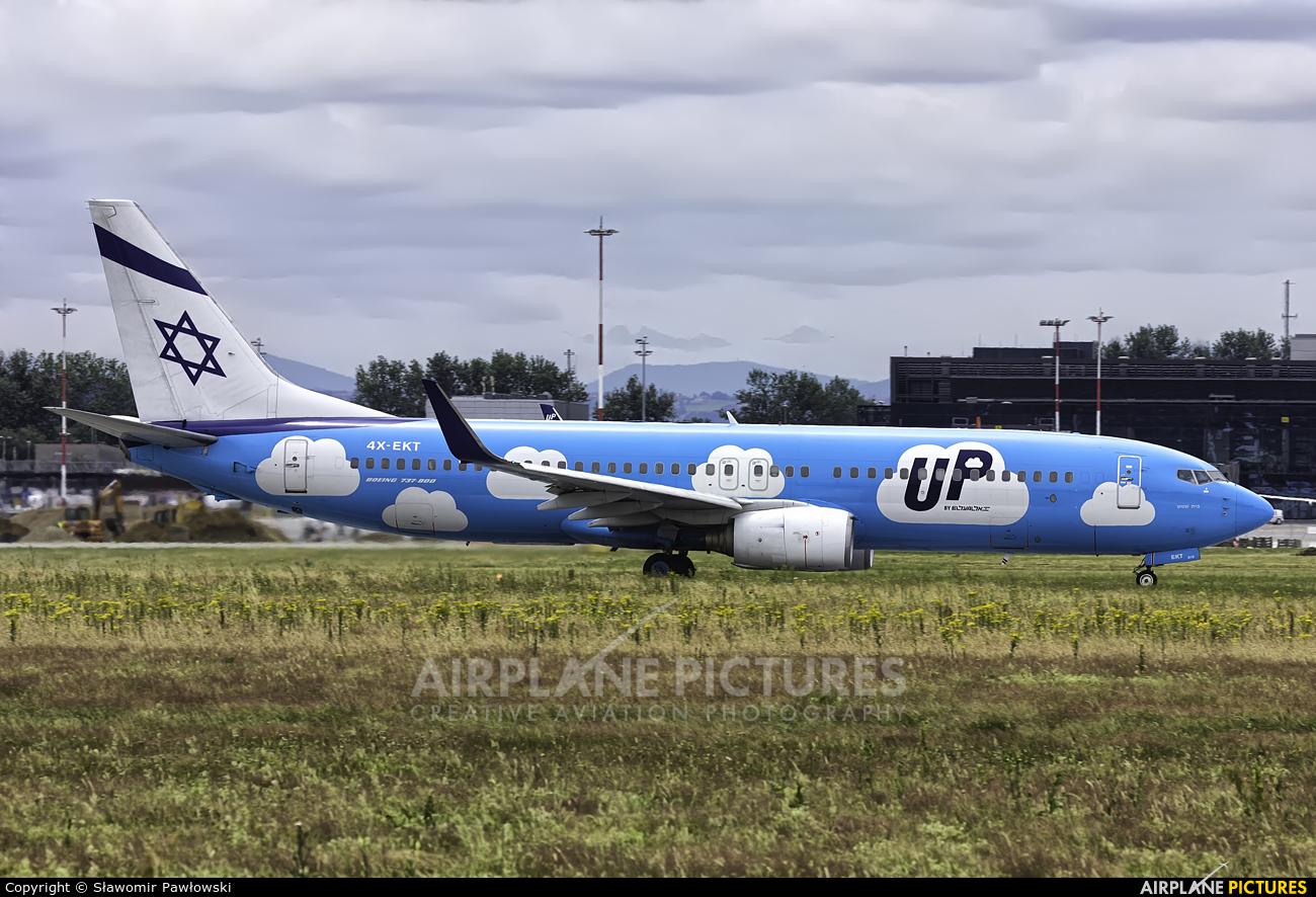 El Al Israel Airlines 4X-EKT aircraft at Kraków - John Paul II Intl