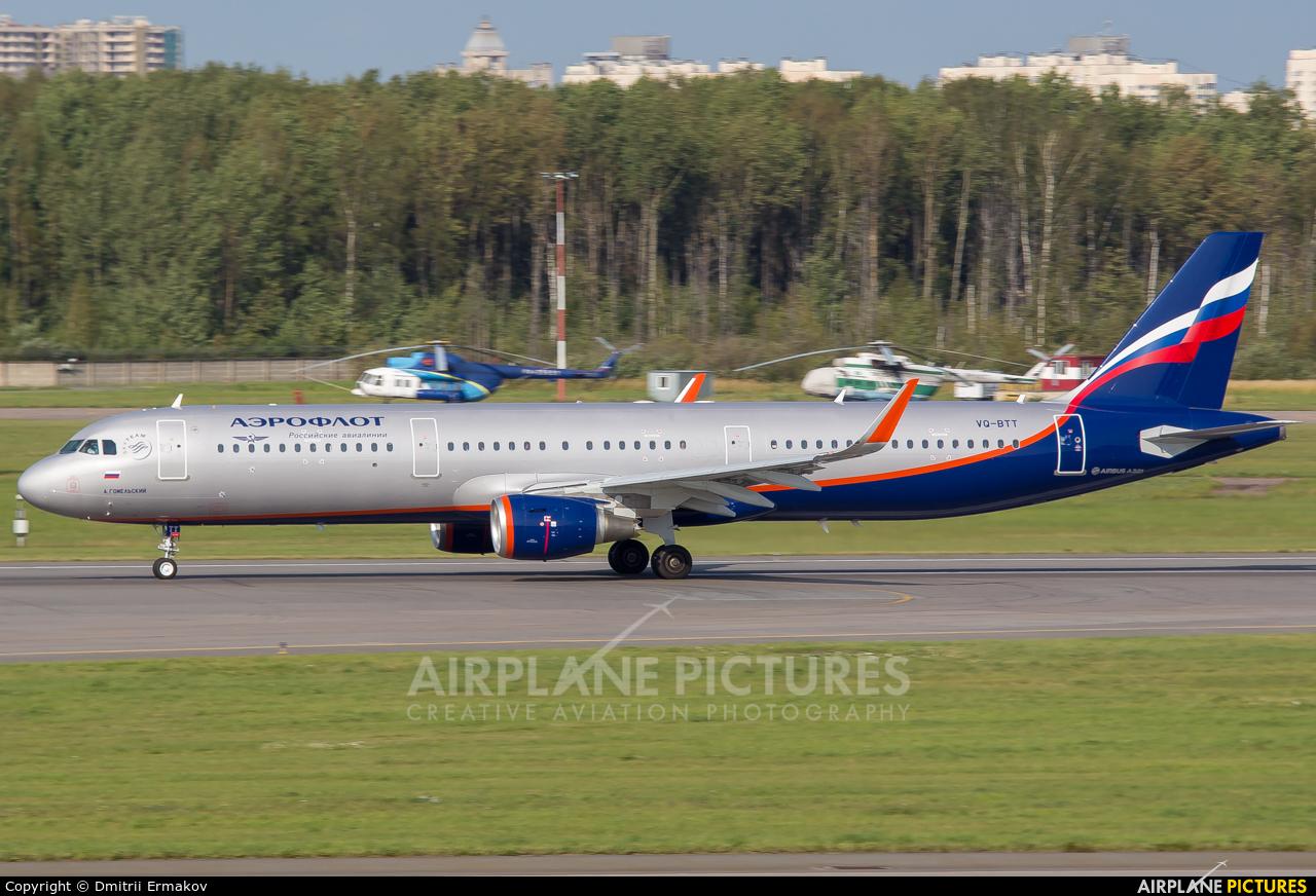 Aeroflot VQ-BTT aircraft at St. Petersburg - Pulkovo