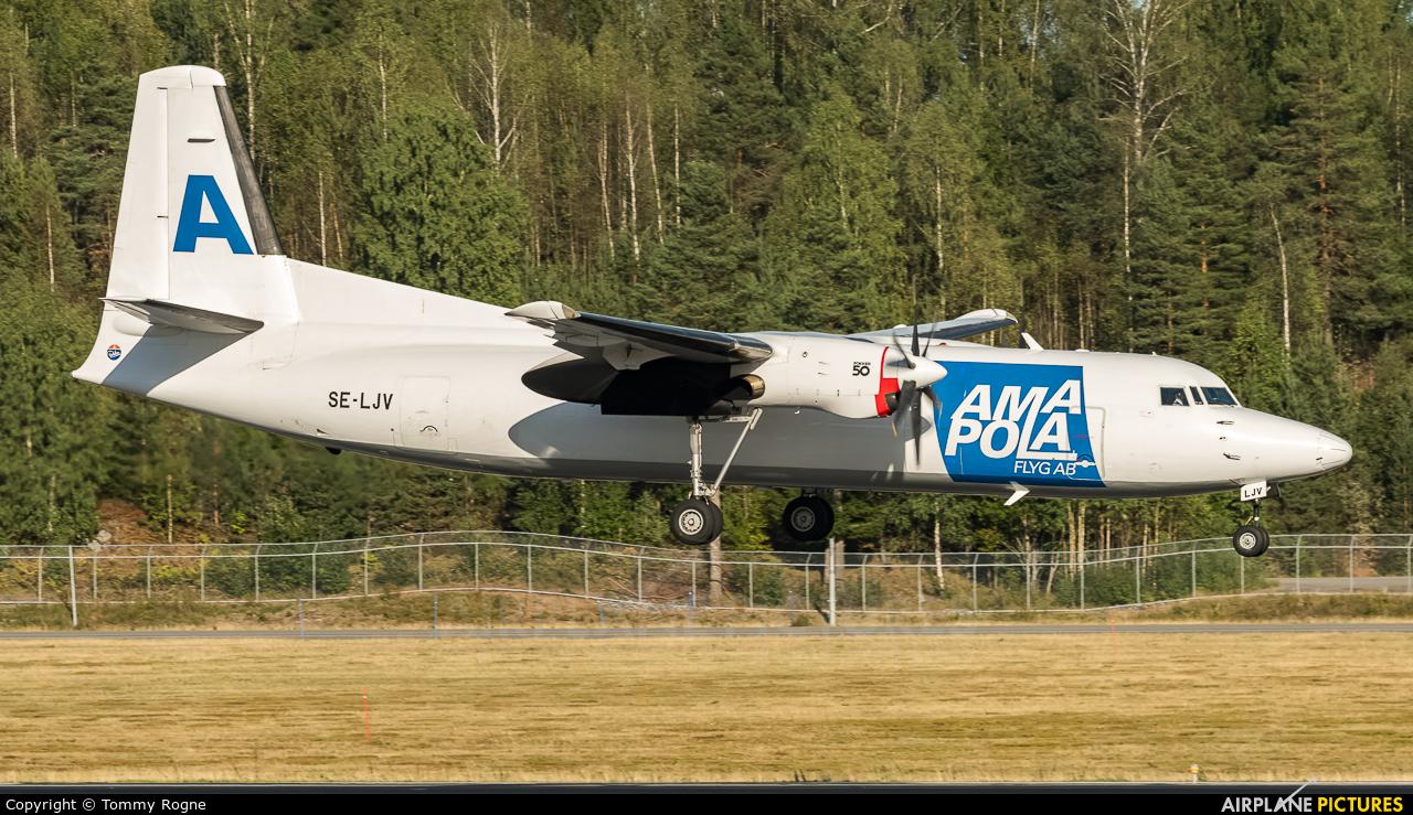 AmaPola Flyg SE-LJV aircraft at Oslo - Gardermoen