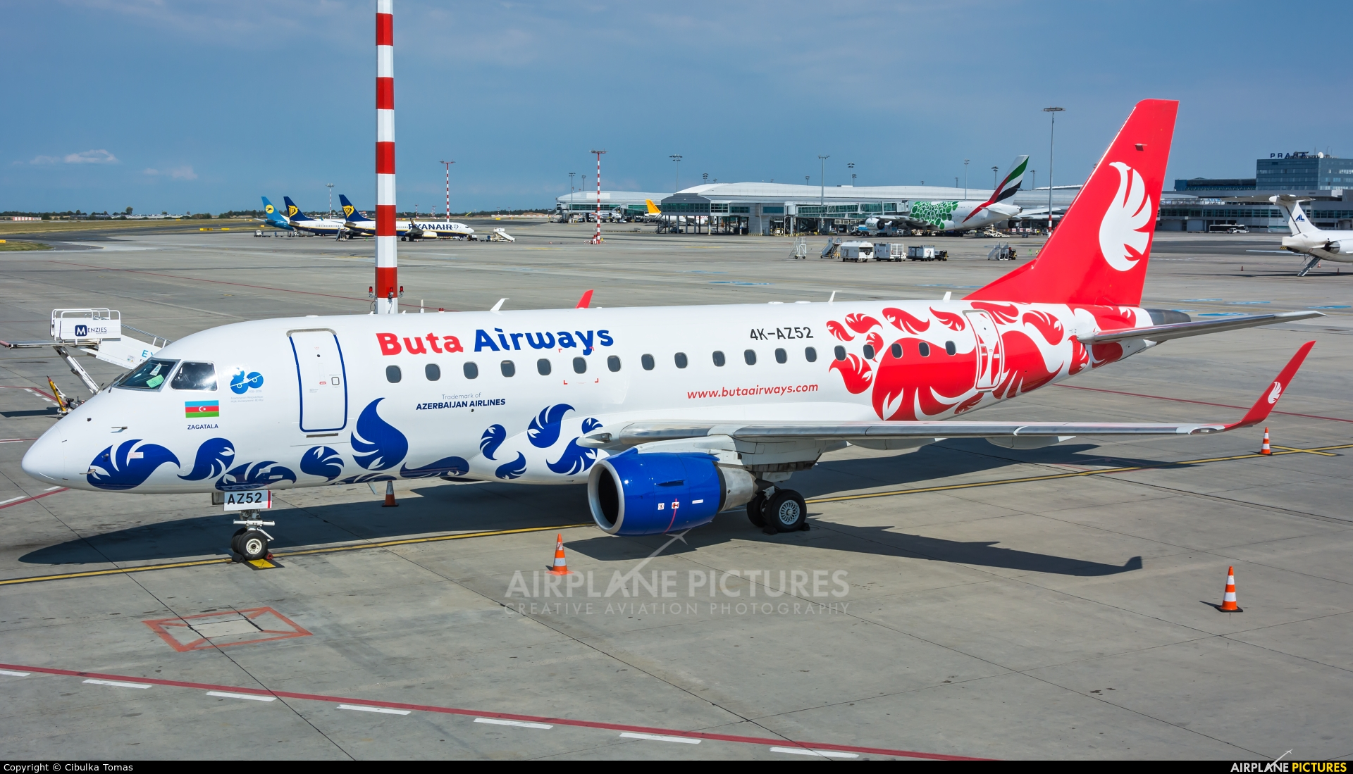 Buta Airways 4K-AZ52 aircraft at Prague - Václav Havel