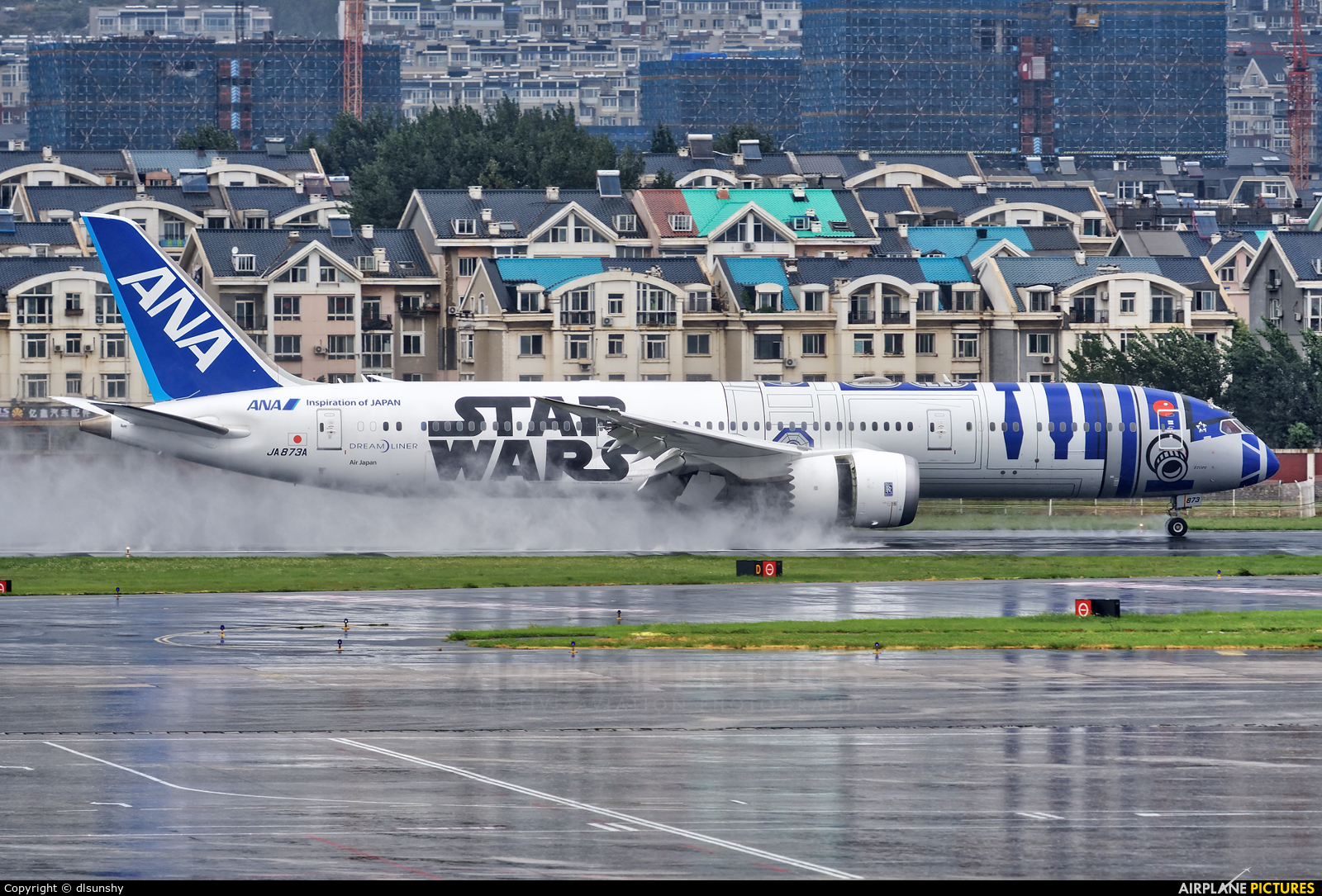ANA - All Nippon Airways JA873A aircraft at Dalian Zhoushuizi Int'l