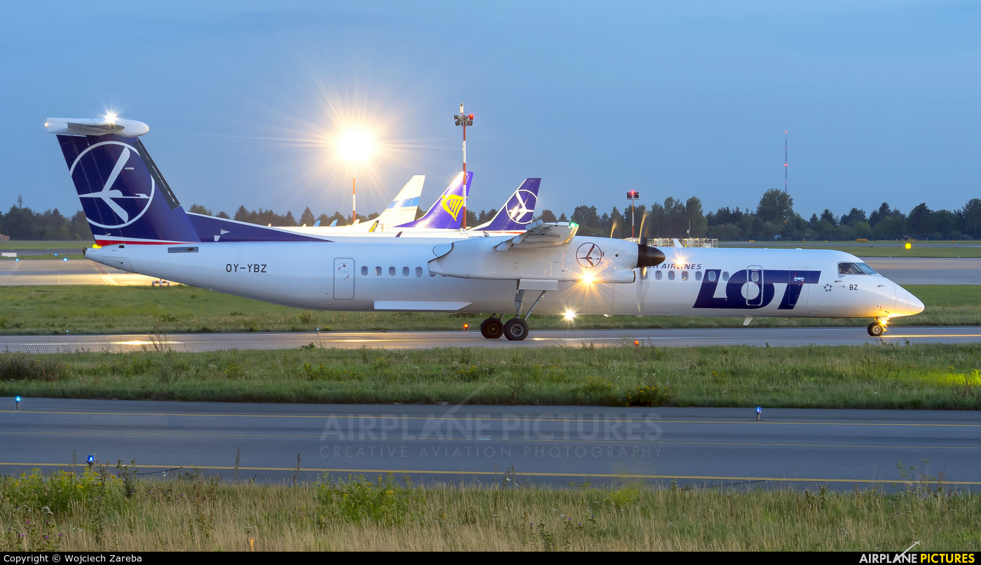 LOT - Polish Airlines OY-YBZ aircraft at Warsaw - Frederic Chopin