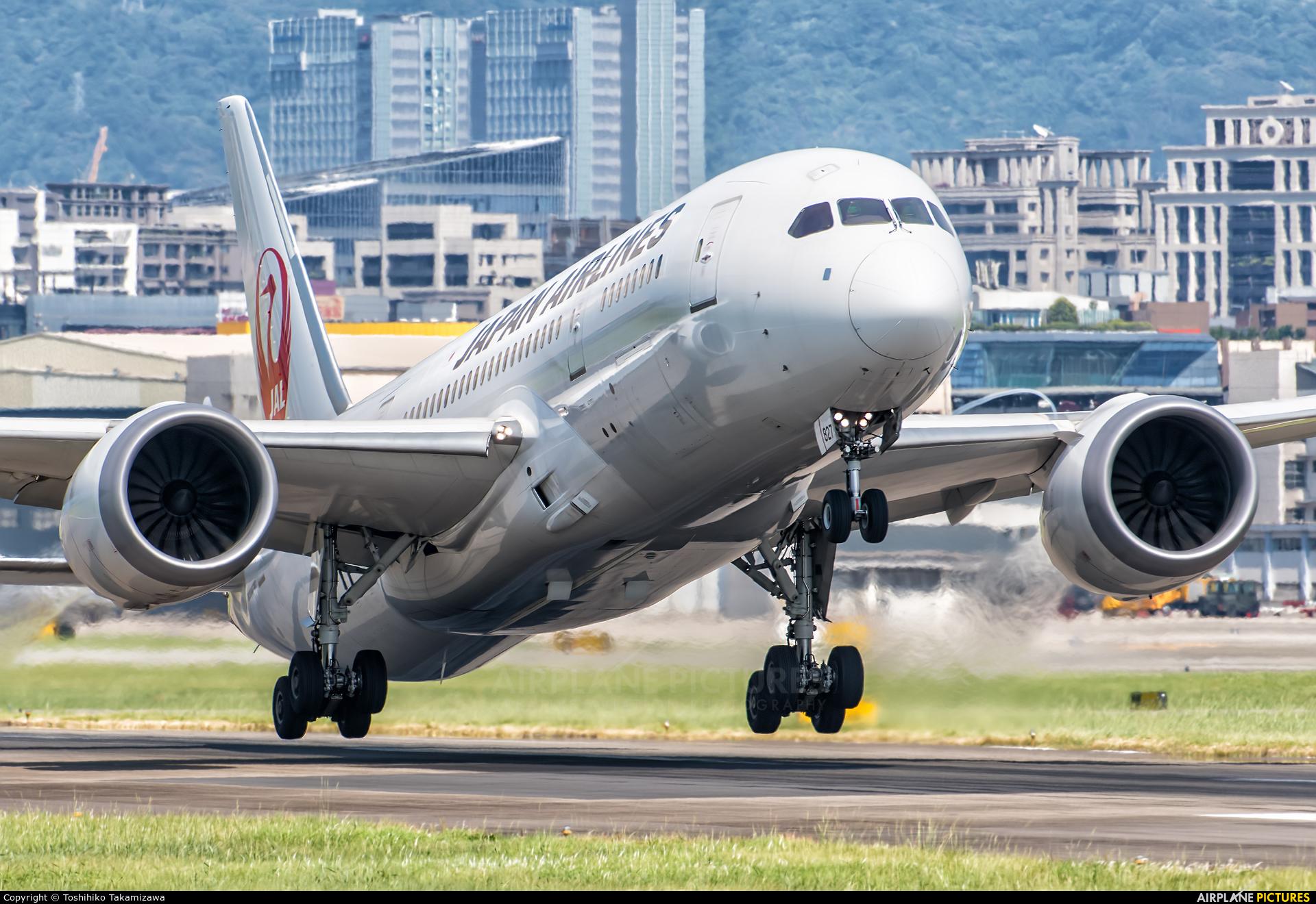 JAL - Japan Airlines JA827J aircraft at Taipei Sung Shan/Songshan Airport