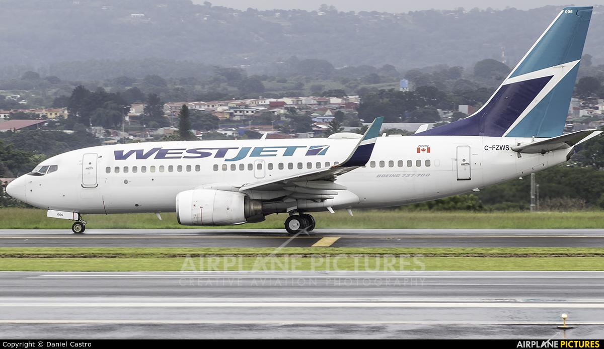 WestJet Airlines C-FZWS aircraft at San Jose - Juan Santamaría Intl