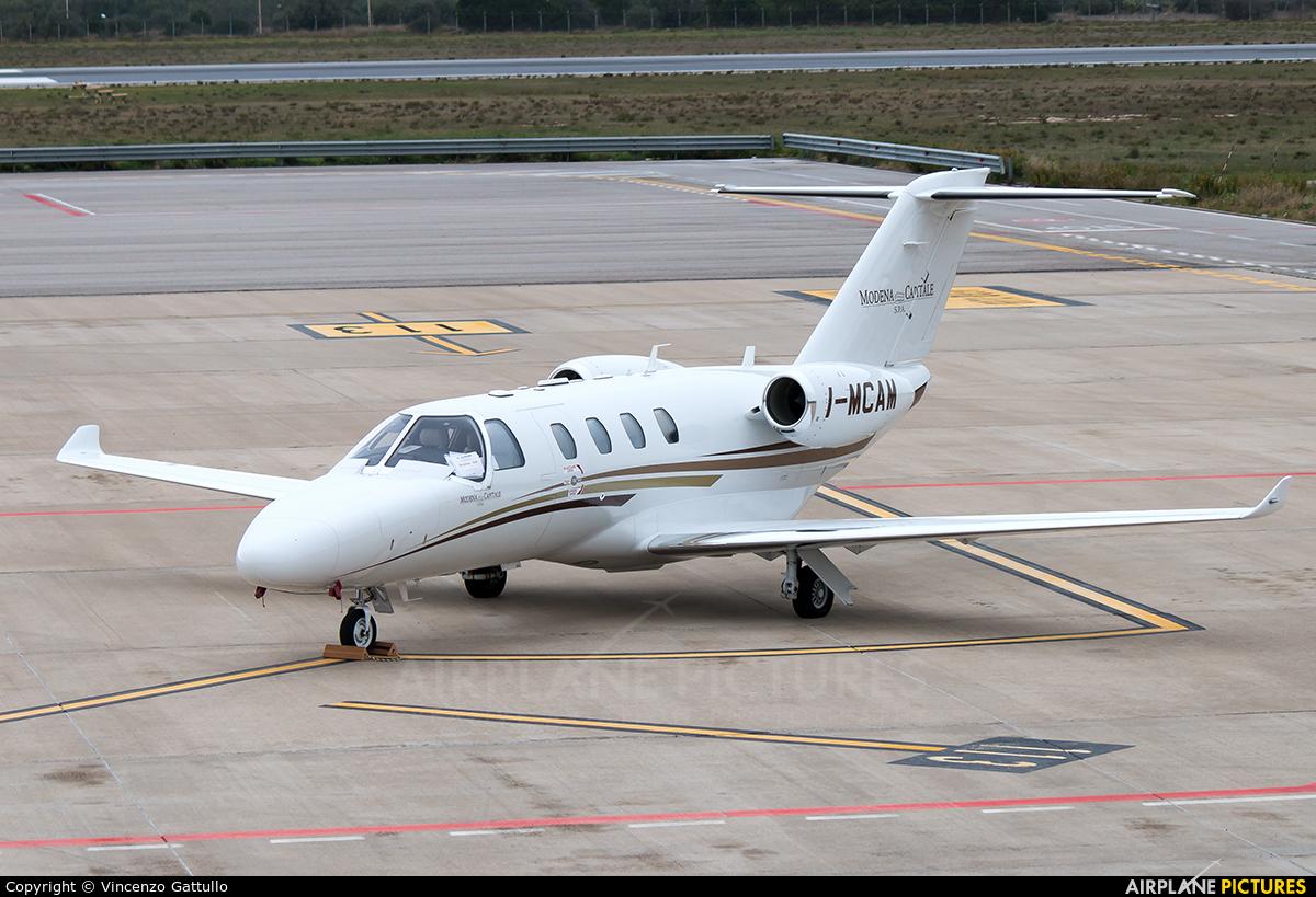 Private I-MCAM aircraft at Bari