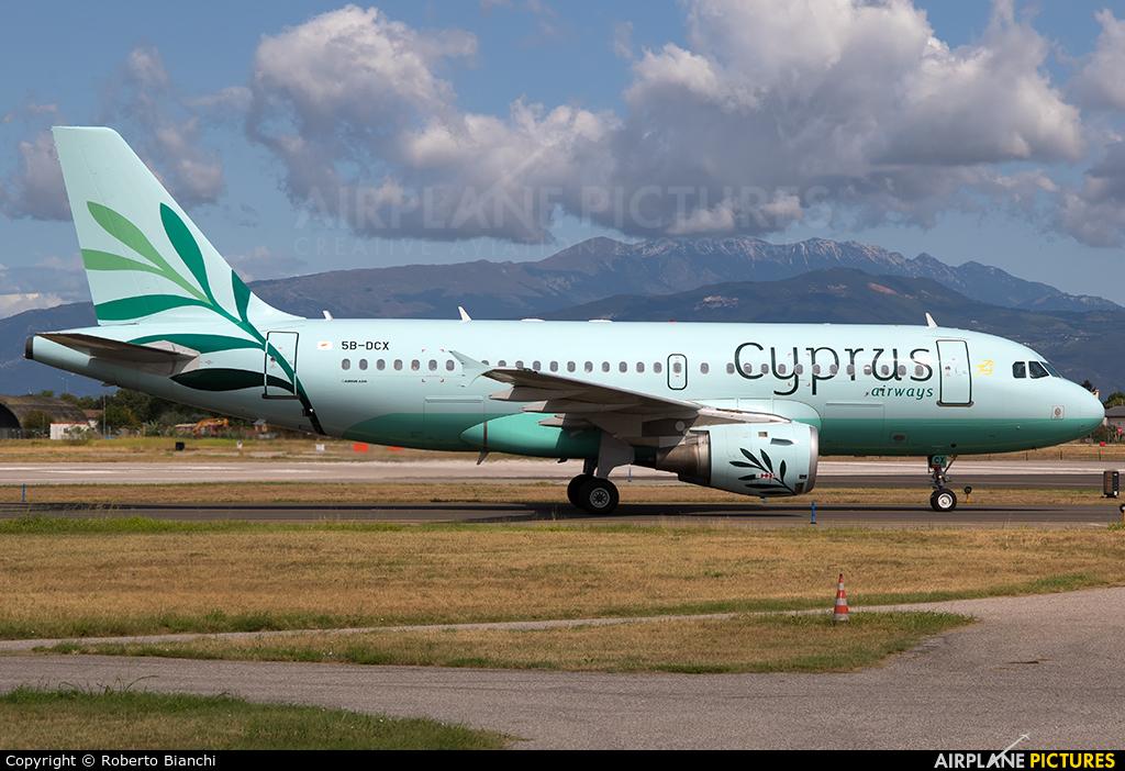 Cyprus Airways 5B-DCX aircraft at Verona - Villafranca