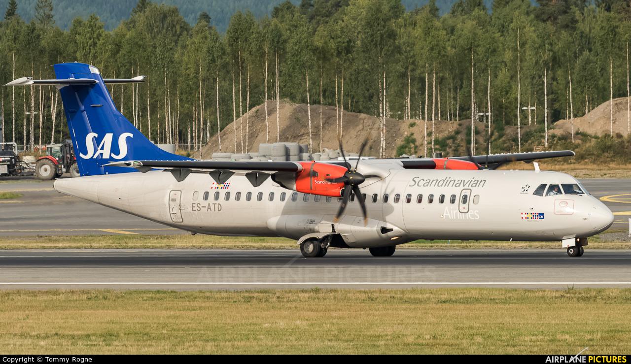 SAS - Scandinavian Airlines ES-ATD aircraft at Oslo - Gardermoen