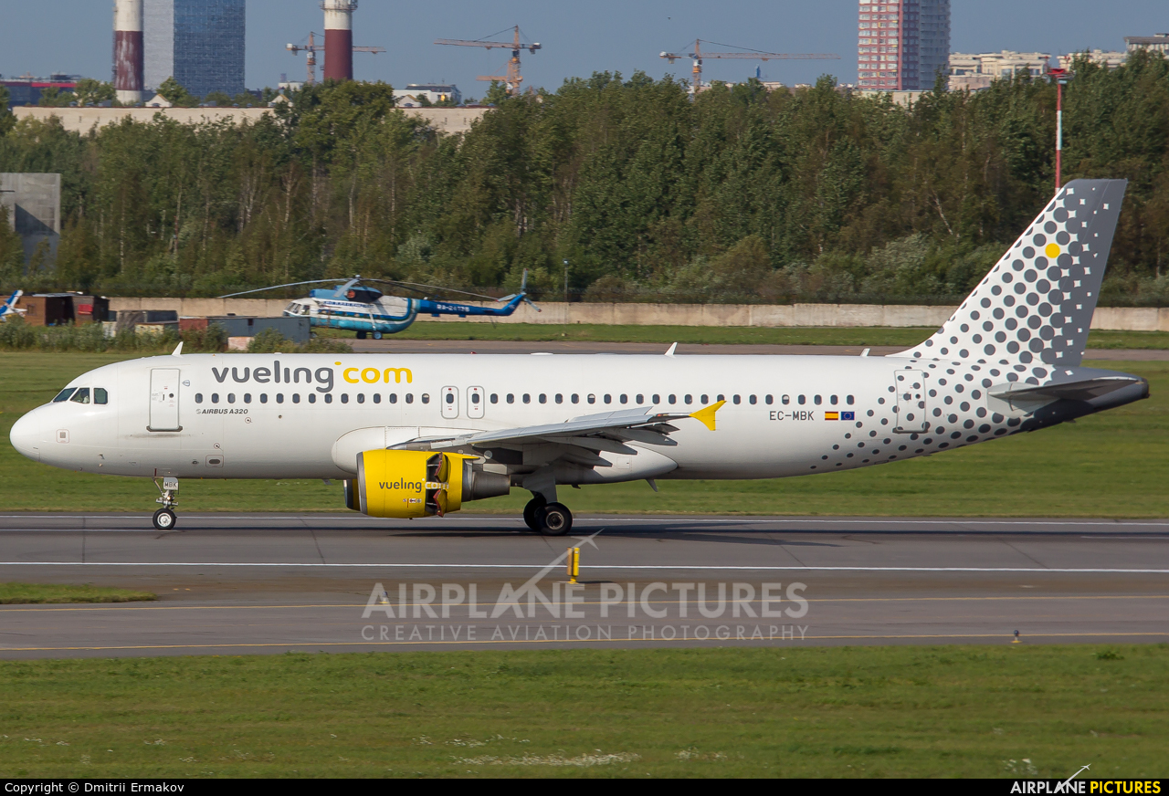Vueling Airlines EC-MBK aircraft at St. Petersburg - Pulkovo