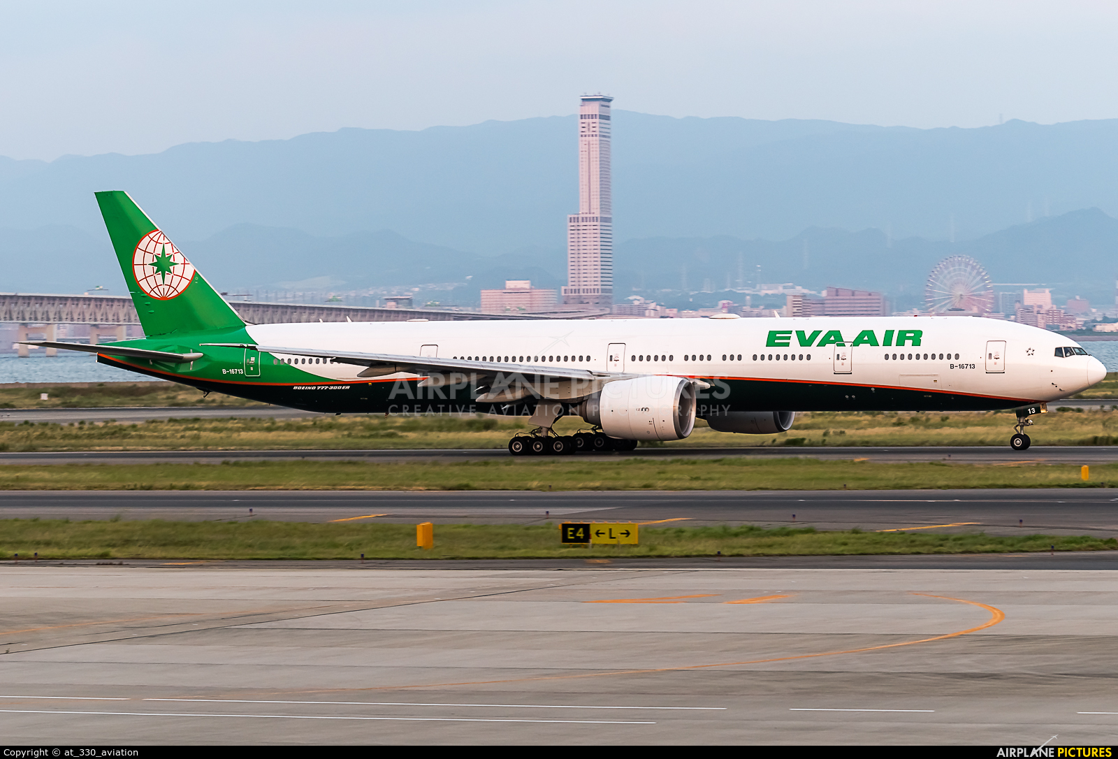 Eva Air B-16713 aircraft at Kansai Intl
