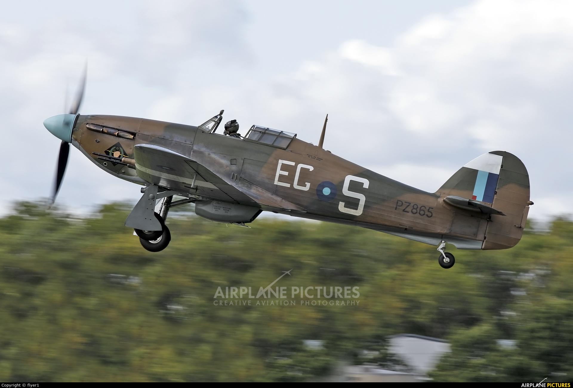 """Royal Air Force """"Battle of Britain Memorial Flight&quot PZ865 aircraft at Dunsfold"""