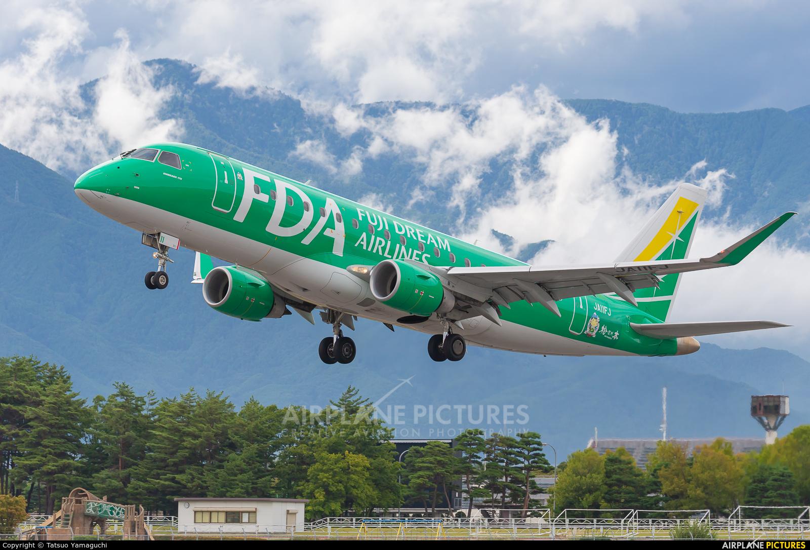Fuji Dream Airlines JA11FJ aircraft at Shinshu - Matsumoto