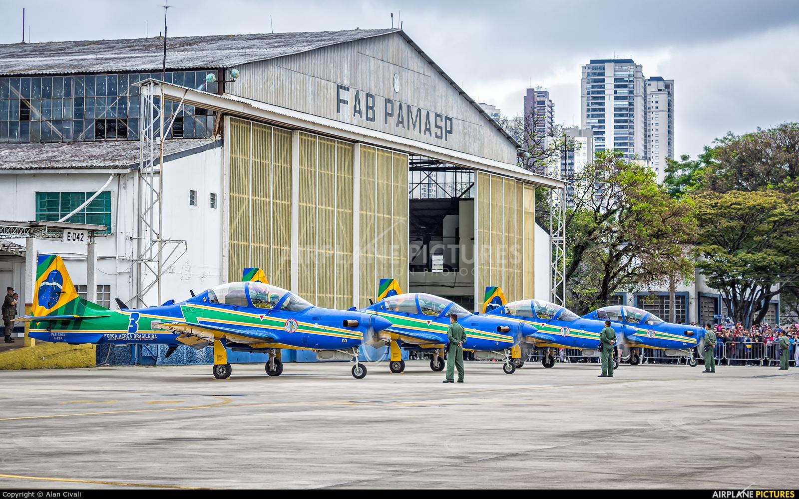 """Brazil - Air Force """"Esquadrilha da Fumaça"""" - aircraft at São Paulo - Campo de Marte"""