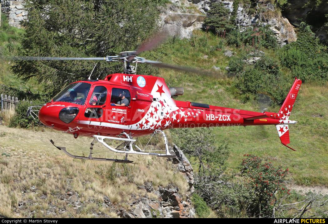 Air Zermatt HB-ZCX aircraft at Zermatt Heliport