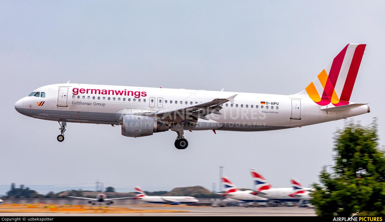 Germanwings D-AIPU aircraft at London - Heathrow