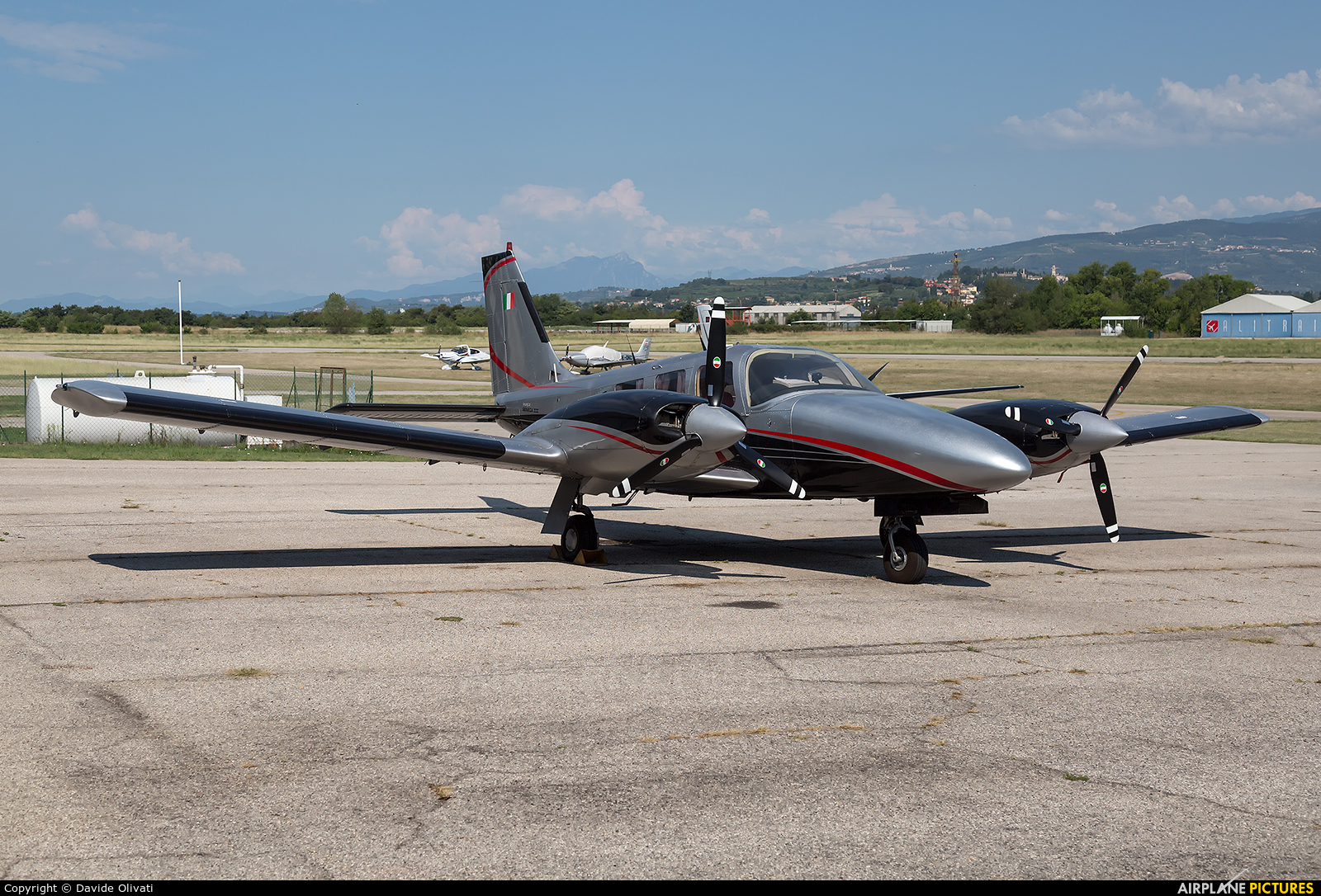 Private I-RIZZ aircraft at Verona - Boscomantico
