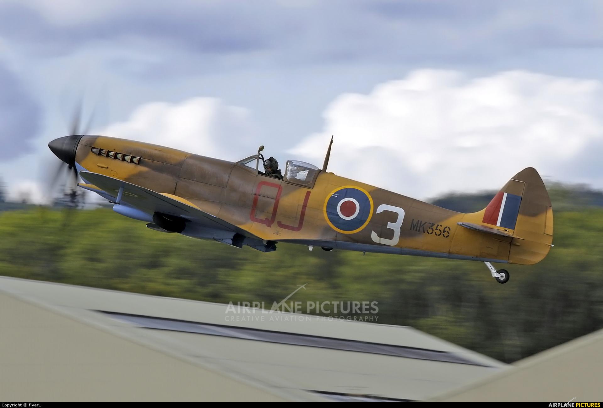 """Royal Air Force """"Battle of Britain Memorial Flight"""" MK356 aircraft at Dunsfold"""