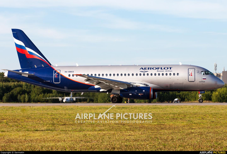 Aeroflot RA-89103 aircraft at Kazan