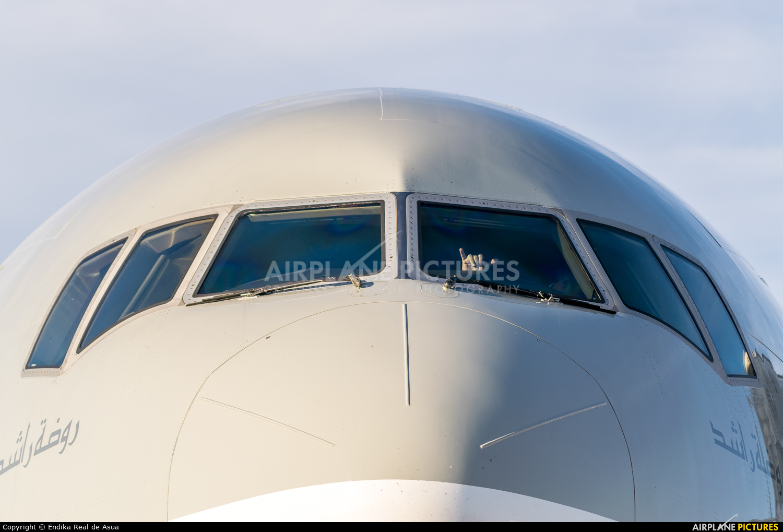 Qatar Airways Cargo A7-BFD aircraft at Zaragoza