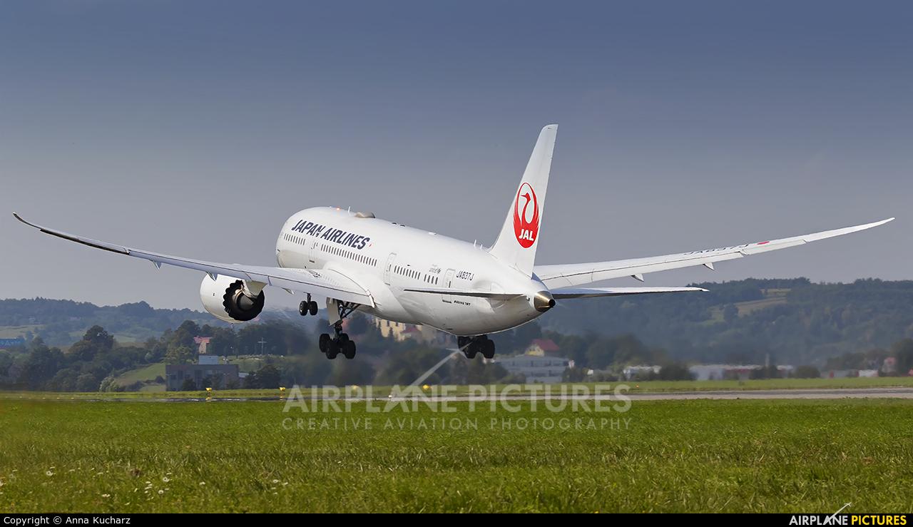 JAL - Japan Airlines JA837J aircraft at Kraków - John Paul II Intl