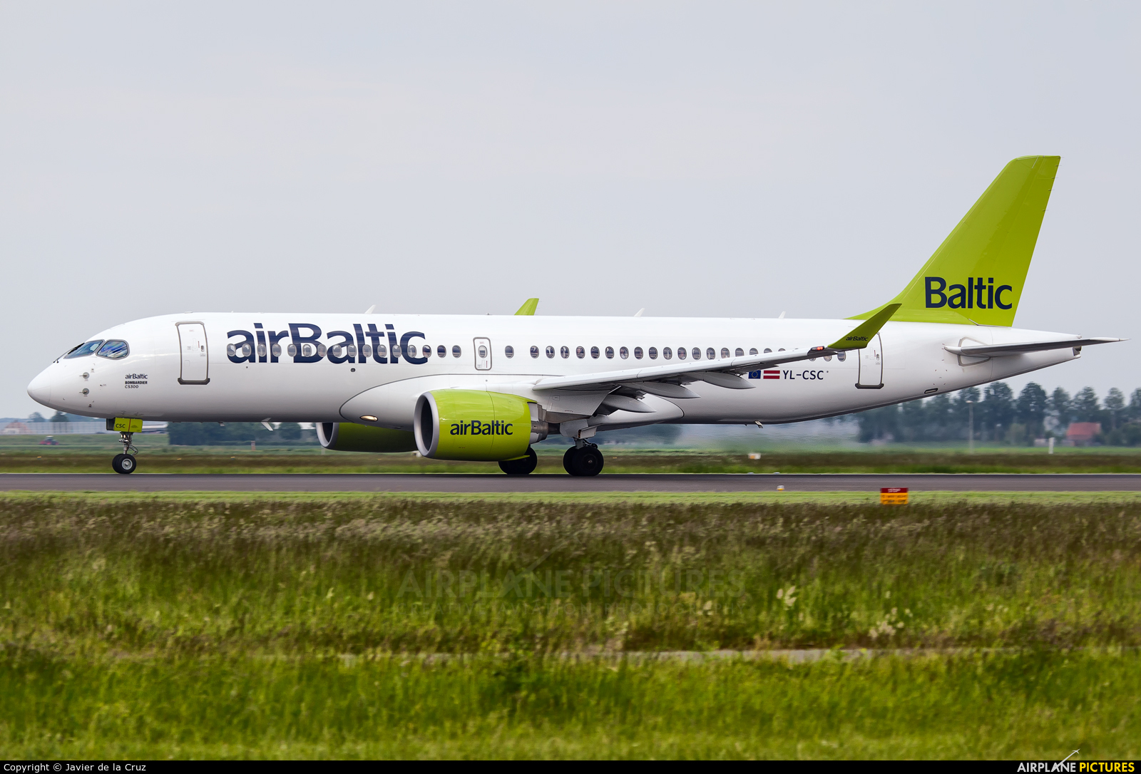 Air Baltic YL-CSC aircraft at Amsterdam - Schiphol