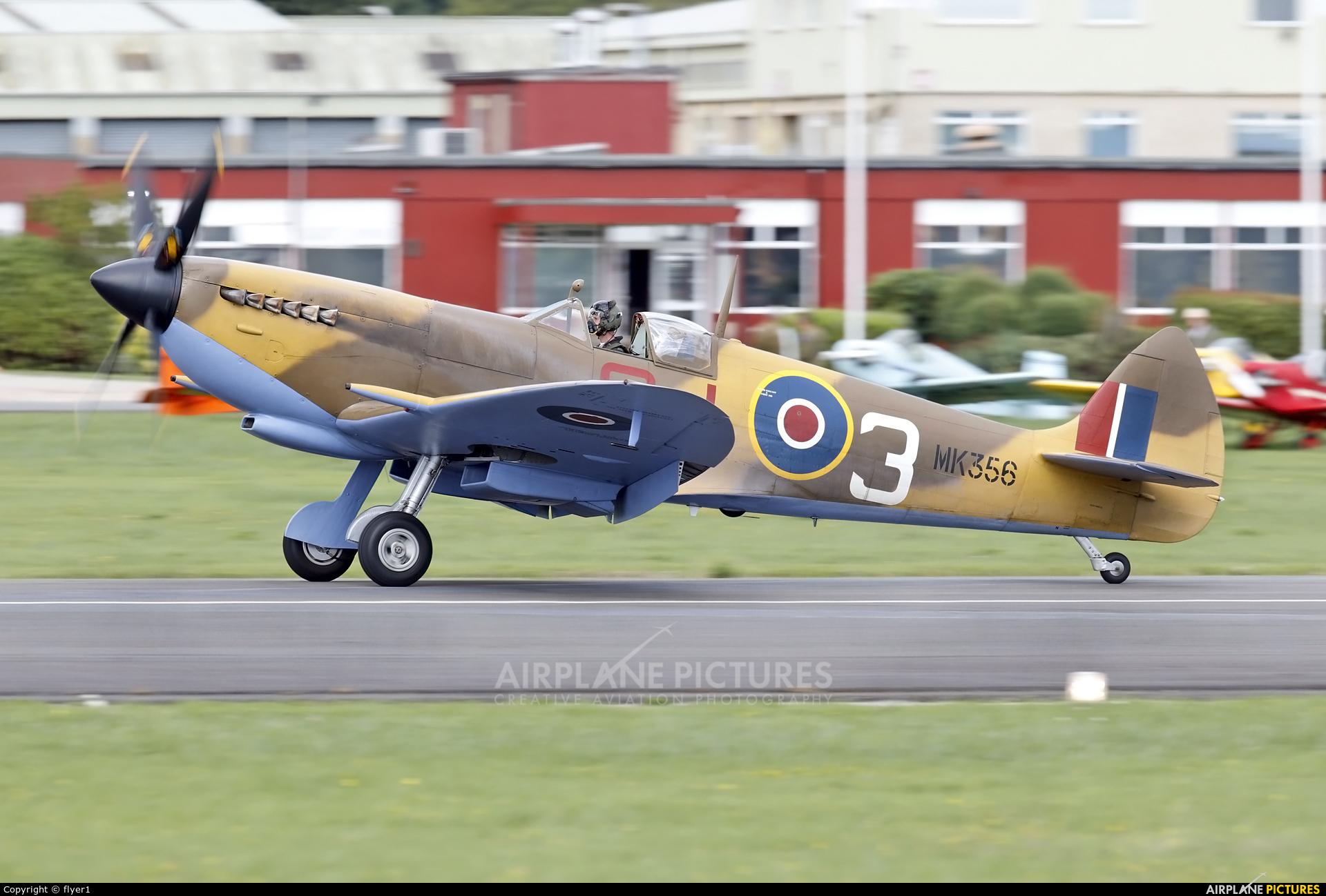 """Royal Air Force """"Battle of Britain Memorial Flight&quot MK356 aircraft at Dunsfold"""