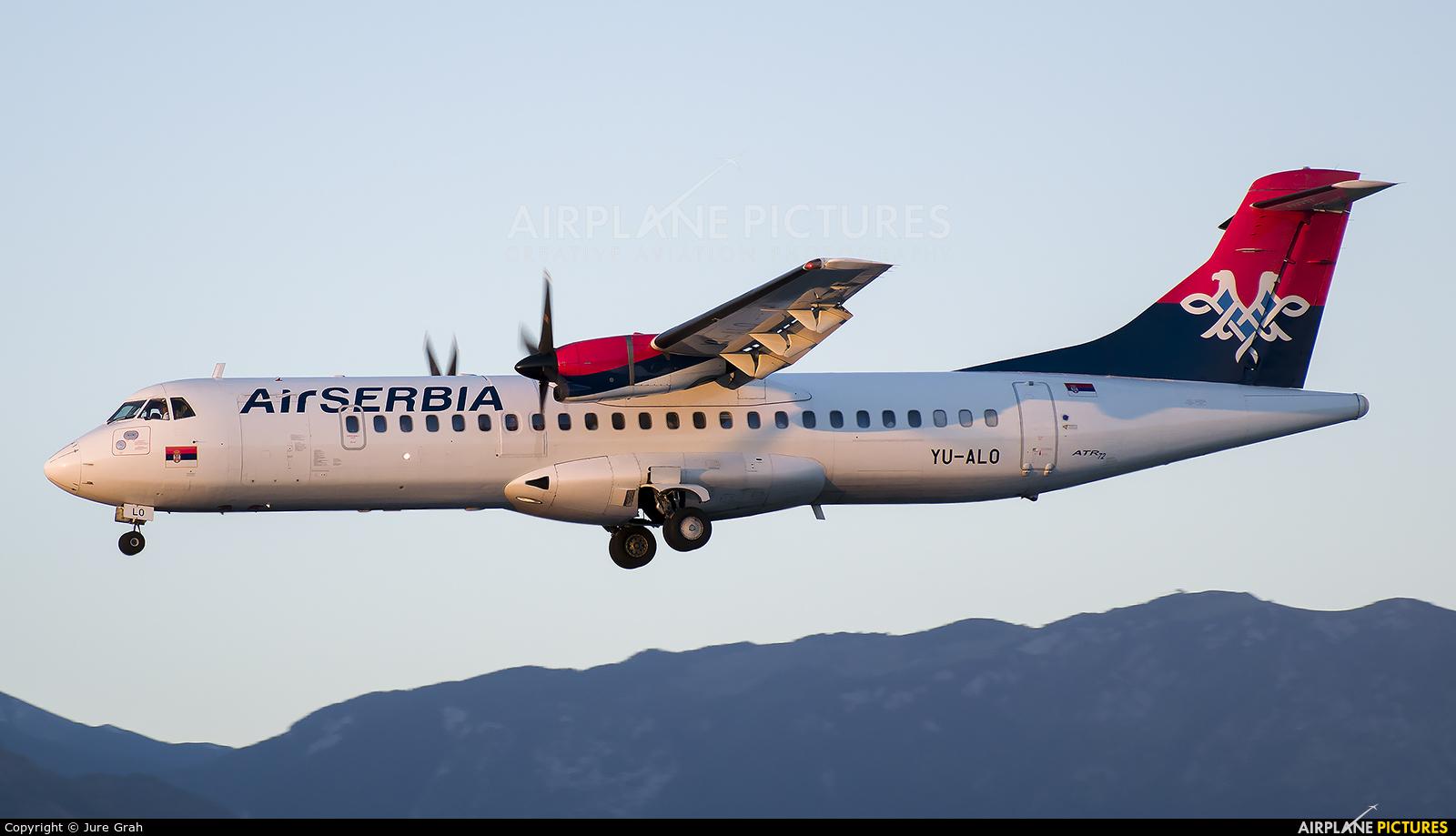 Air Serbia YU-ALO aircraft at Ljubljana - Brnik