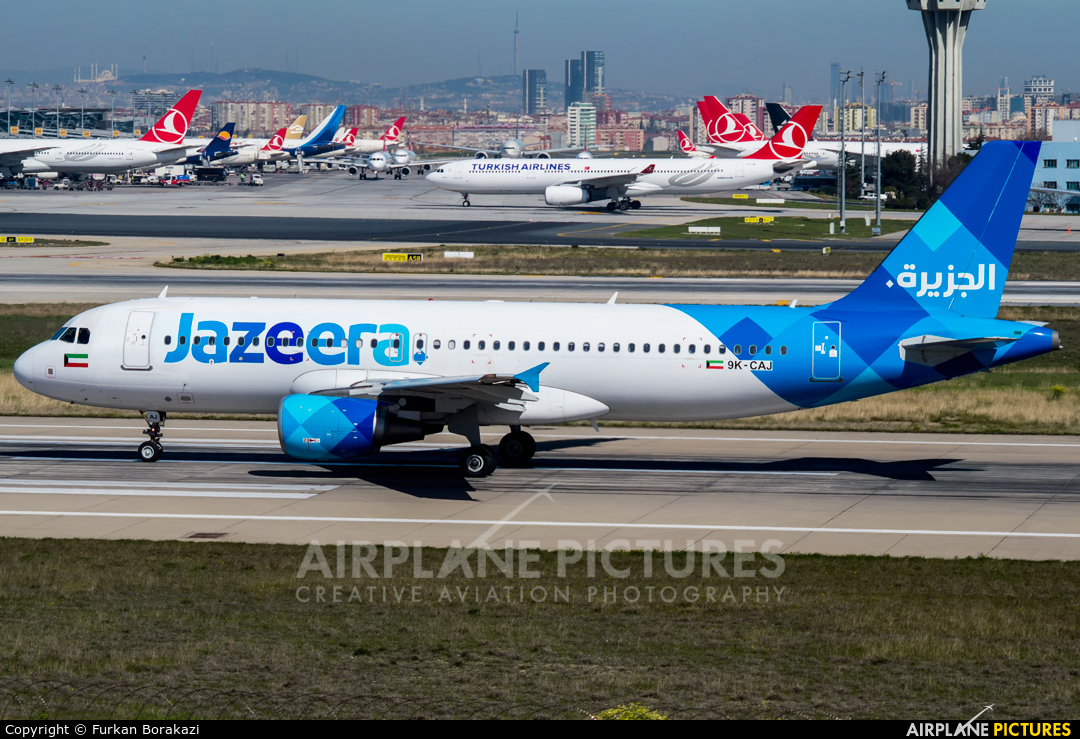 Jazeera Airways 9K-CAJ aircraft at Istanbul - Ataturk