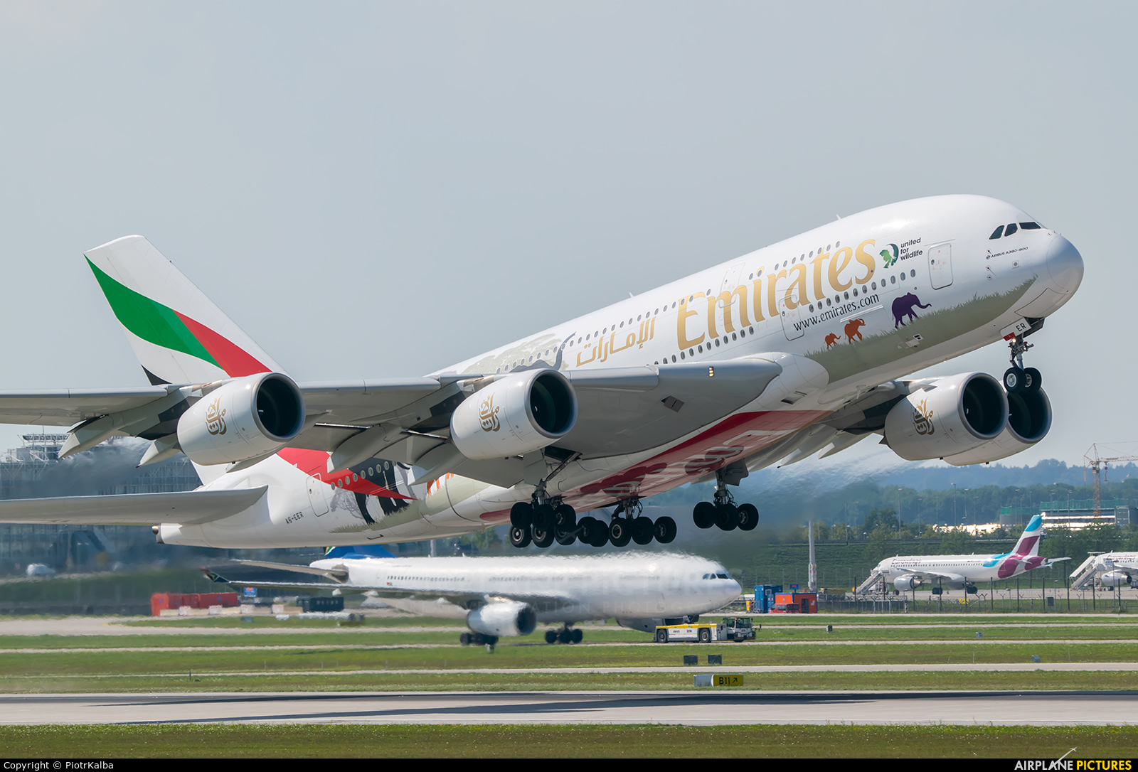 Emirates Airlines A6-EER aircraft at Munich