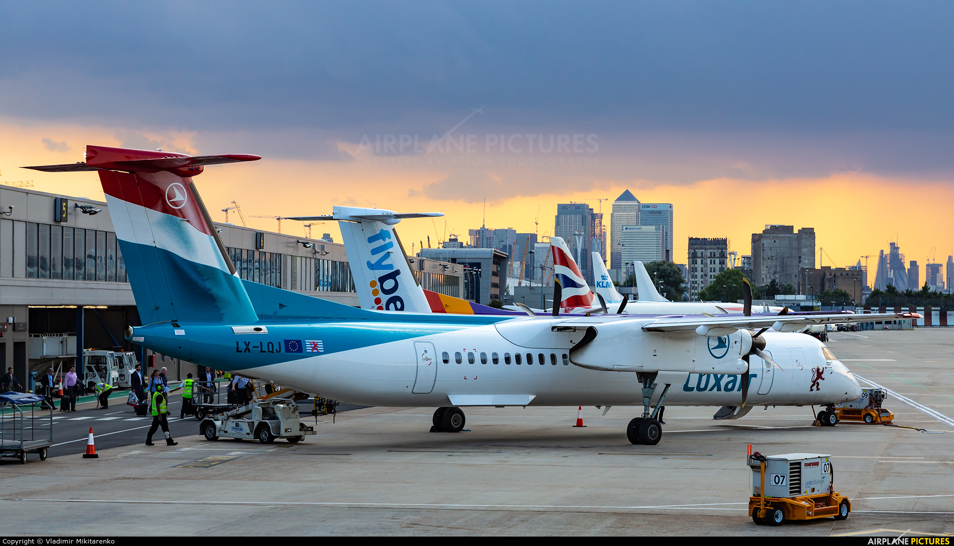 Luxair LX-LQJ               aircraft at London - City