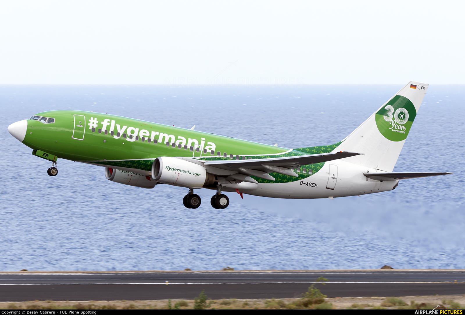 Germania D-AGER aircraft at Fuerteventura - Puerto del Rosario