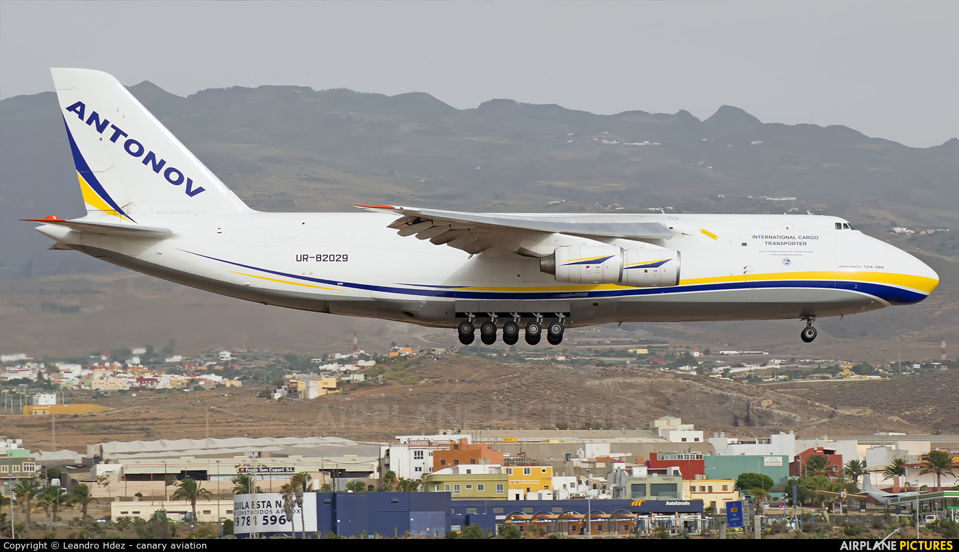 Antonov Airlines /  Design Bureau UR-82029 aircraft at Aeropuerto de Gran Canaria