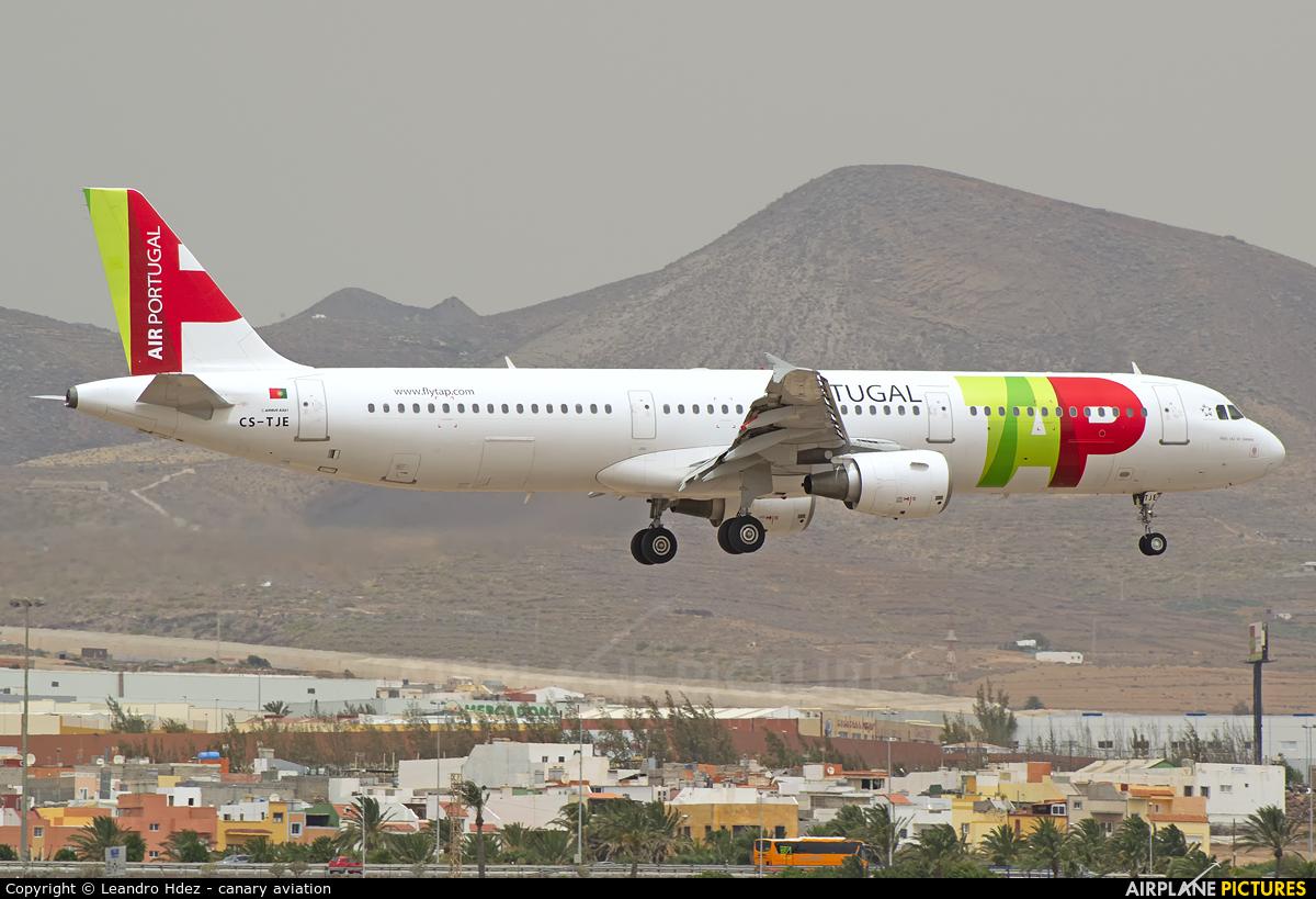 TAP Portugal CS-TJE aircraft at Aeropuerto de Gran Canaria