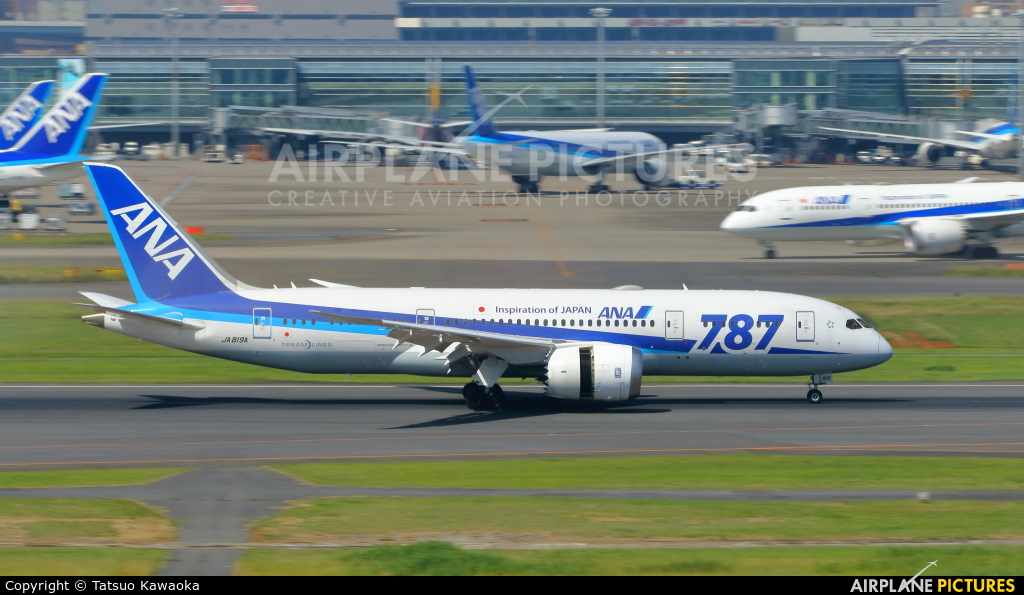 ANA - All Nippon Airways JA819A aircraft at Tokyo - Haneda Intl
