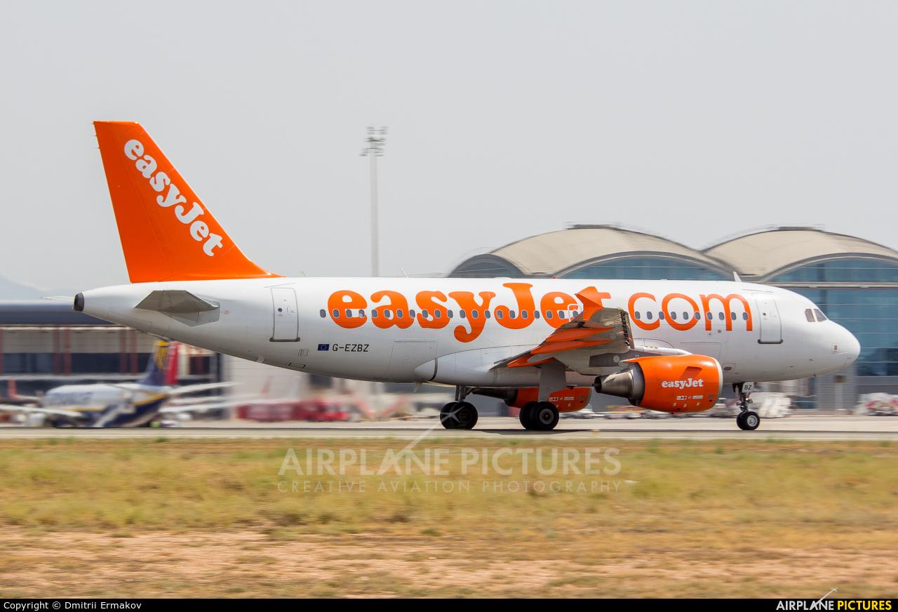 easyJet G-EZBZ aircraft at Alicante - El Altet