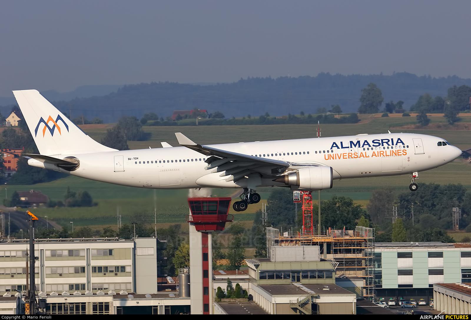 Al Masria SU-TCH aircraft at Zurich