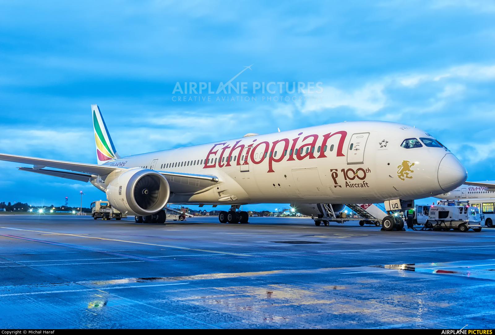 Ethiopian Airlines ET-AUQ aircraft at Dublin