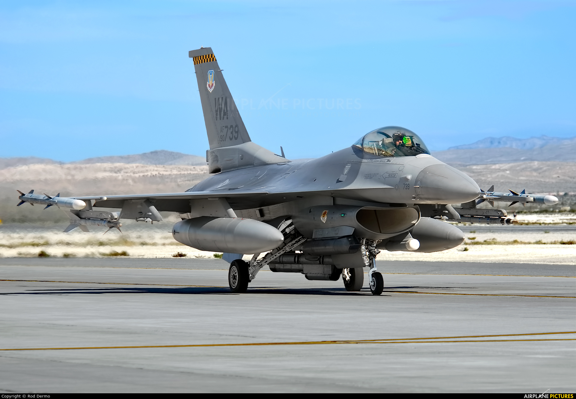 USA - Air Force 90-0739 aircraft at Nellis AFB