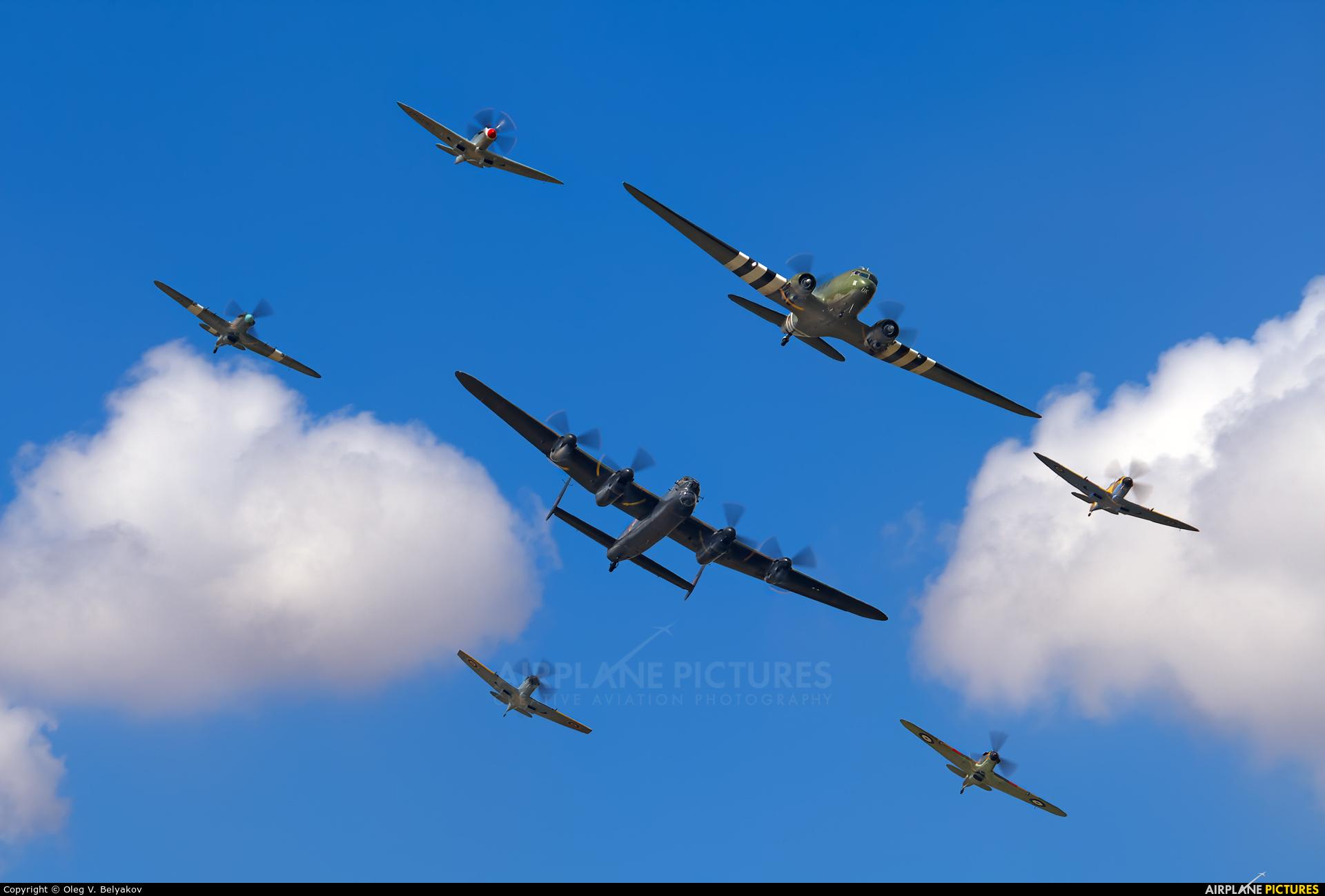 """Royal Air Force """"Battle of Britain Memorial Flight"""" PA474 aircraft at Fairford"""