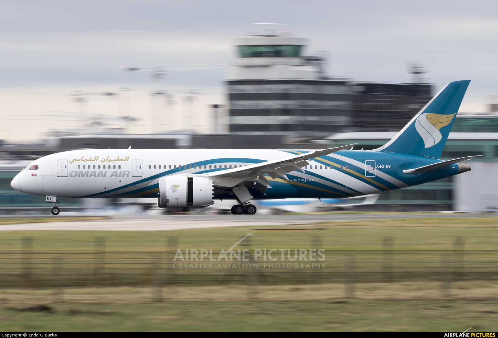 Oman Air A4O-SY aircraft at Manchester
