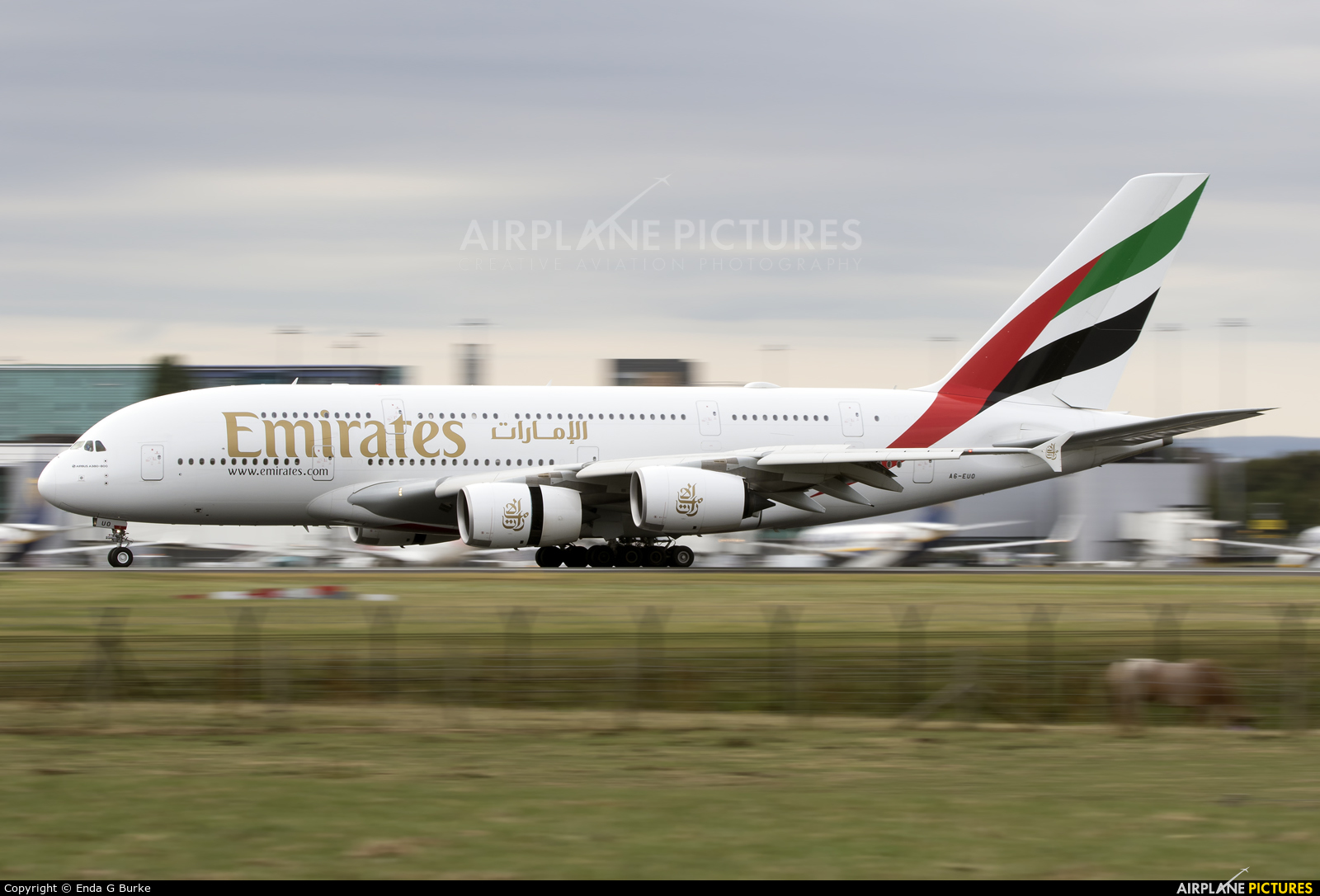 Emirates Airlines A6-EUO aircraft at Manchester