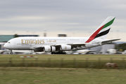 A6-EUO - Emirates Airlines Airbus A380 aircraft