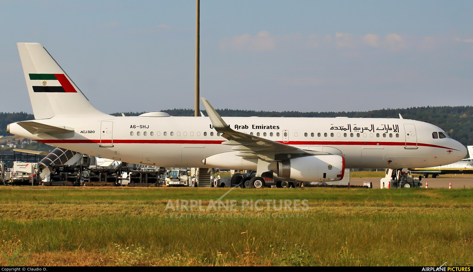 United Arab Emirates - Government A6-SHJ aircraft at Zurich