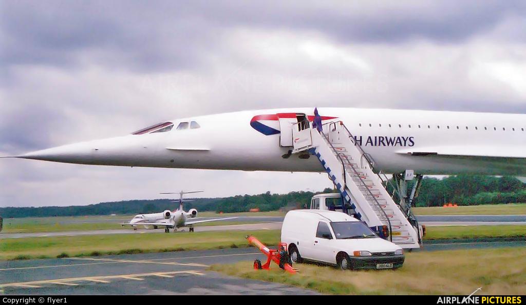 British Airways G-BOAF aircraft at Farnborough