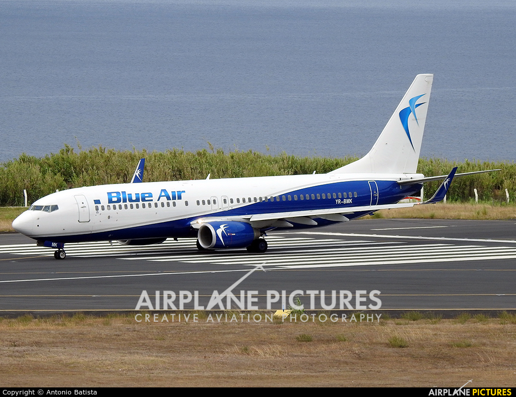 Blue Air OY-BMK aircraft at Azores - Santa Maria