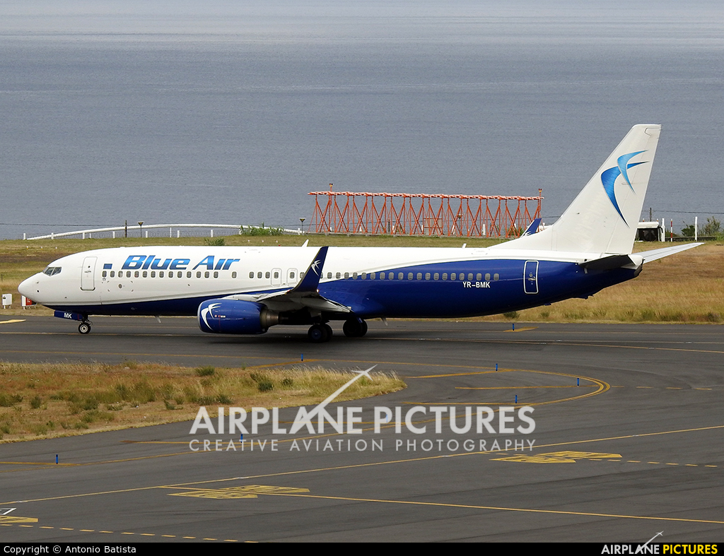 Blue Air YR-BMK aircraft at Azores - Ponta Delgada