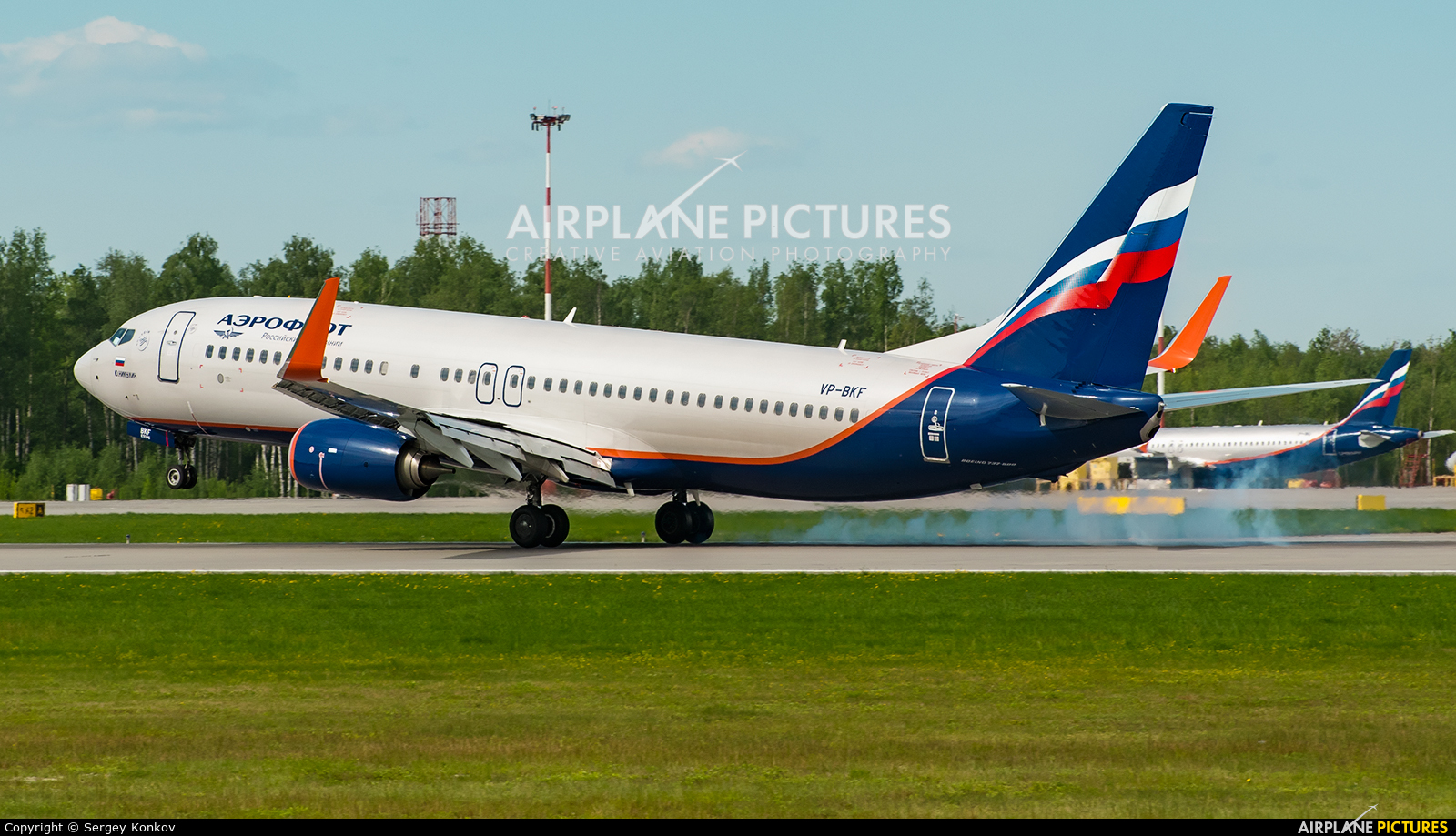 Aeroflot VP-BKF aircraft at St. Petersburg - Pulkovo