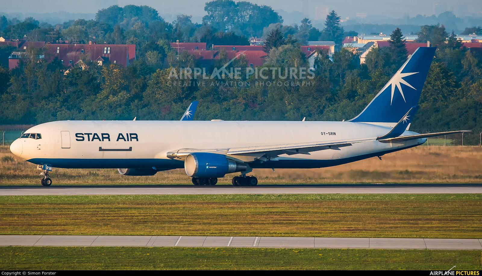 Star Air OY-SRW aircraft at Munich