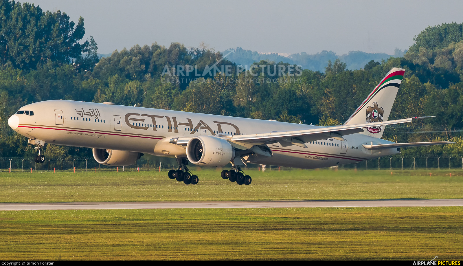 Etihad Airways A6-ETR aircraft at Munich