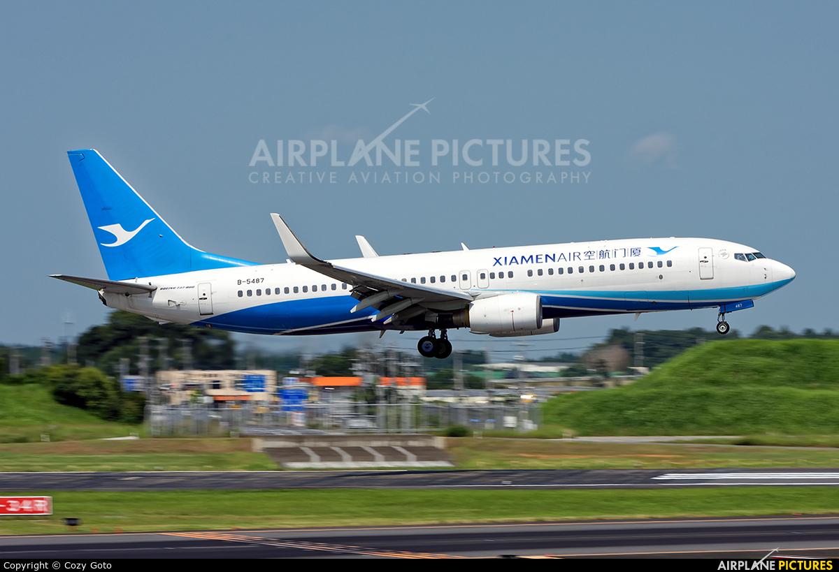 Xiamen Airlines B-5487 aircraft at Tokyo - Narita Intl