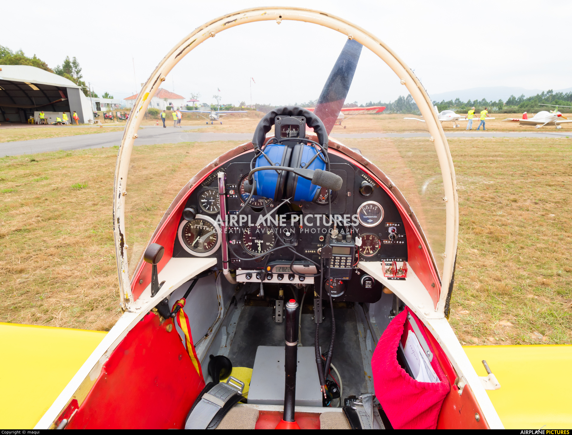 Private EC-YAG aircraft at Aerodrome Cerval